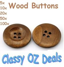 Wooden 4 Holes Round Wood Sewing Replace Buttons DIY Craft Scrapbooking 25mm
