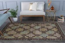 Tayse Capri Woven Olefin Contemporary Classic Casual Brown Multi Rug CPR1005