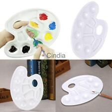 Art Paint Tray Oil Watercolor Plastic Color Mixing Palette with Thumb Hole