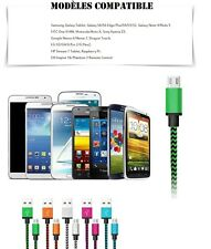 Universel Micro USB Data Sync Chargeur cable Samsung LG Sony HTC Wiko Blackberry