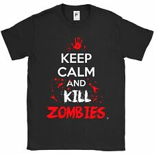 Keep Calm & Kill Zombies Blood Splatters Apocalypse Mens T-Shirt