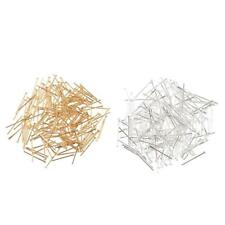 200Pcs Head Pins Finding Connectors For Jewelry Making Silver/Gold Plated