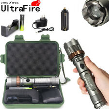 Tactical Police 12000LM XM-L T6 LED 5Mode 18650 Flashlight Light Battery*Charger