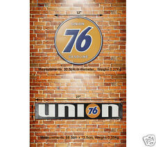 UNION 76 Gasoline Embossed Metal Sign Decor Garage Gas & Oil Station Auto Advert