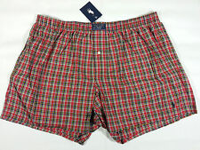 POLO RALPH LAUREN Plaid Woven Cotton Boxer Shorts Underwear Mens Size Small Red