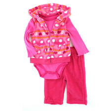 Buster Brown Baby 3 piece Outfit Fleece Vest Top Pants Set 12GSB117