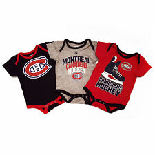Montreal Canadiens NHL Baby Hat Trick 3-pc Creeper Set