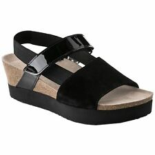 Papillio by Birkenstock Linda Black Womens Suede Leather Ankle Strap Sandals