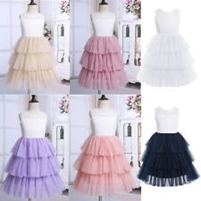 Flower Girls Princess Dress Kids Baby Party Wedding Pageant Lace Tutu Dresses