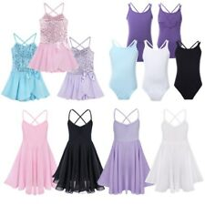 Gymnastics Girls Leotard Ballet Leotard Dance Tutu Skirt Dancewear Costume Dress