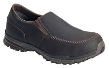 Nautilus Mens Steel Toe SD Moc Toe Slip On M Brown Leather Shoes