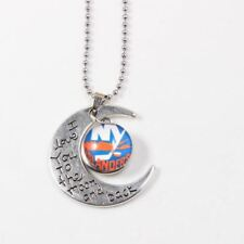 Unisex Stainless Steel Metal Letter Print Pattern Pendant Necklace