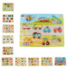 Wooden Cartoon Kids Baby Educational Learning Puzzle Animal Toys Lovely