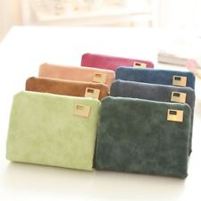 Solid Color New Fashion Note Compartment Card Holder Wallet For Women