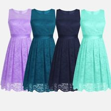 Sexy Women Lace Evening Party Cocktail Bridesmaid Wedding Prom Gown Short Dress