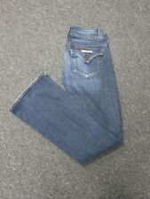 HUDSON Blue Cotton Flat Zip Front 5 Pocket Boot Cut Jeans Pants Sz 25 7489 A