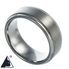 Tungsten Carbide Band Wedding Engagement Ring Classic Brushed Comfort Fit 8mm