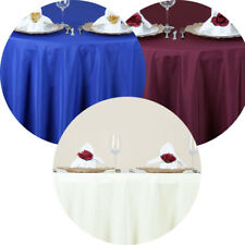 """20 Pack 70"""" Round Seamless Polyester Tablecloth Wedding Party Table Linens"""