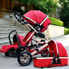 Baby Stroller 3 in 1 High view Pram foldable pushchair bassinet Car Seat