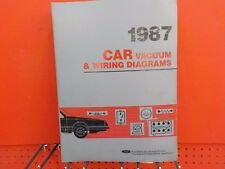 1987 FORD  LINCOLN  MERCURY WIRING DIAGRAMS FACTORY MANUAL  (FM1987C)