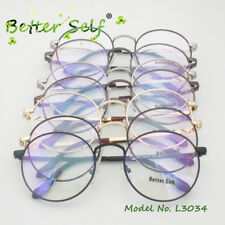 Retro Eyewear Round Alloy Spectacles Mens Clear Eyeglasses Computer Glasses
