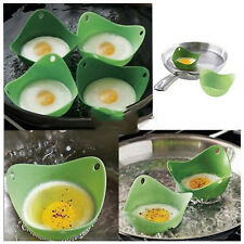 Utility 2X Kitchen Silicone Fried Fry Frier Oven Pancake Egg Poach Mould SD