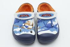 New Kids Disney Planes Roomy Fit Clogs-croc Cotton Warm Toddler Winter Sandals