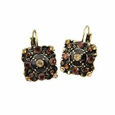 New Fashion Vintage Square Shape Crystal Decorated Earring For Women