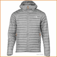 The North Face Mens $280 QUINCE HOODED 800 fill goose down ZIP Jacket GRAY M/XL