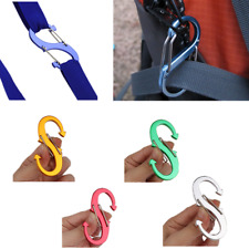S Shape Aluminum Alloy Safety Buckle Climbing Button Carabiner Camping Hook