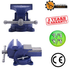 """4""""/5""""/6""""/8"""" Heavy Duty Steel Bench Vise with Anvil - Swivel Locking Base Table T"""