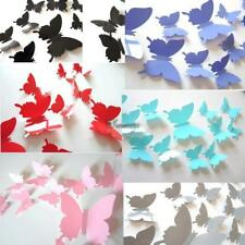 12Pcs 3D Butterfly Wall Sticker Room Removable Decal Decor Art Mural DIY WT88