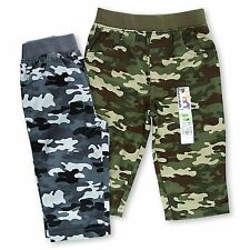 Garanimals Boys Toddler Camouflage Woven Pants Lot of 2 Pair Elastic Waist NWT