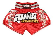 Twins Muay Thai MMA Kick Boxing Shorts Training Trunks Red Lumpinee Size M L XL