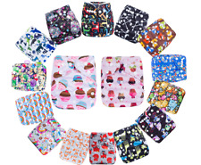 New One Size Pocket Cloth Diaper Washable Reusable New Nappy W/ Inserts Lot
