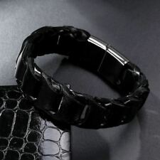 Men New Fashion Bracelet Wide Vintage Pu Leather Casual Bracelet