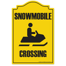 Snowmobile Crossing Novelty Sign | Funny Home Décor Garage Wall Lover Gag Gift