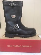 Mens Red Wing Steel Toe Motorcycle boots style #988