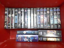 Various Doctor Who Vhs tapes from Hartnell to McGann mulit-list