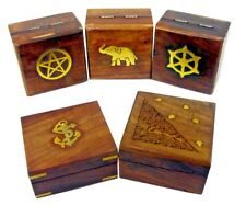 Christmas Gift Ideas Wooden Gift Box Jewellery Earrings Necklace Storage Hand