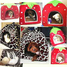 Pet Dog Cat Doggy Puppy Bed Soft House Kennel Warm Cushion Basket Pad