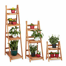 Wooden Plant Display Rack, Flower Stairs for Indoors, 2, 3 or 4 Tier Plant Stand