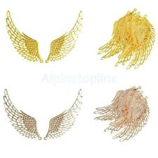 12Pcs Jewelry Charms Pendants DIY Shiny Glitter Angel Wings Findings