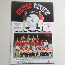 1980's  Manchester United Football Programmes - Various Fixtures
