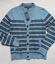 NWT Tommy Hilfiger Men's Button Front Striped Sweater Cardigan Size: M