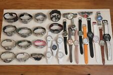 72 Fossil Watches Ceramic Blue Big Tic Chronograph Kaliedo Relic Watch Lot