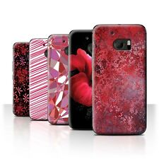 STUFF4 Back Case/Cover/Skin for HTC 10/One M10 (2016)/Red Fashion