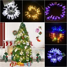 20LEDs Battery Powered Peg Photo Clip Hanging Picture Fairy String Lights Decor