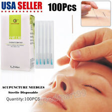 100/200/500pcs Acupuncture Disposable Needles + Guide tub One Time (0.25X75mm)