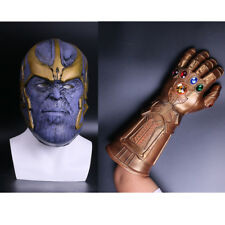 2018 Cosplay Infinity Gauntlet Thanos Mask Gloves Avengers Infinity War Mask New